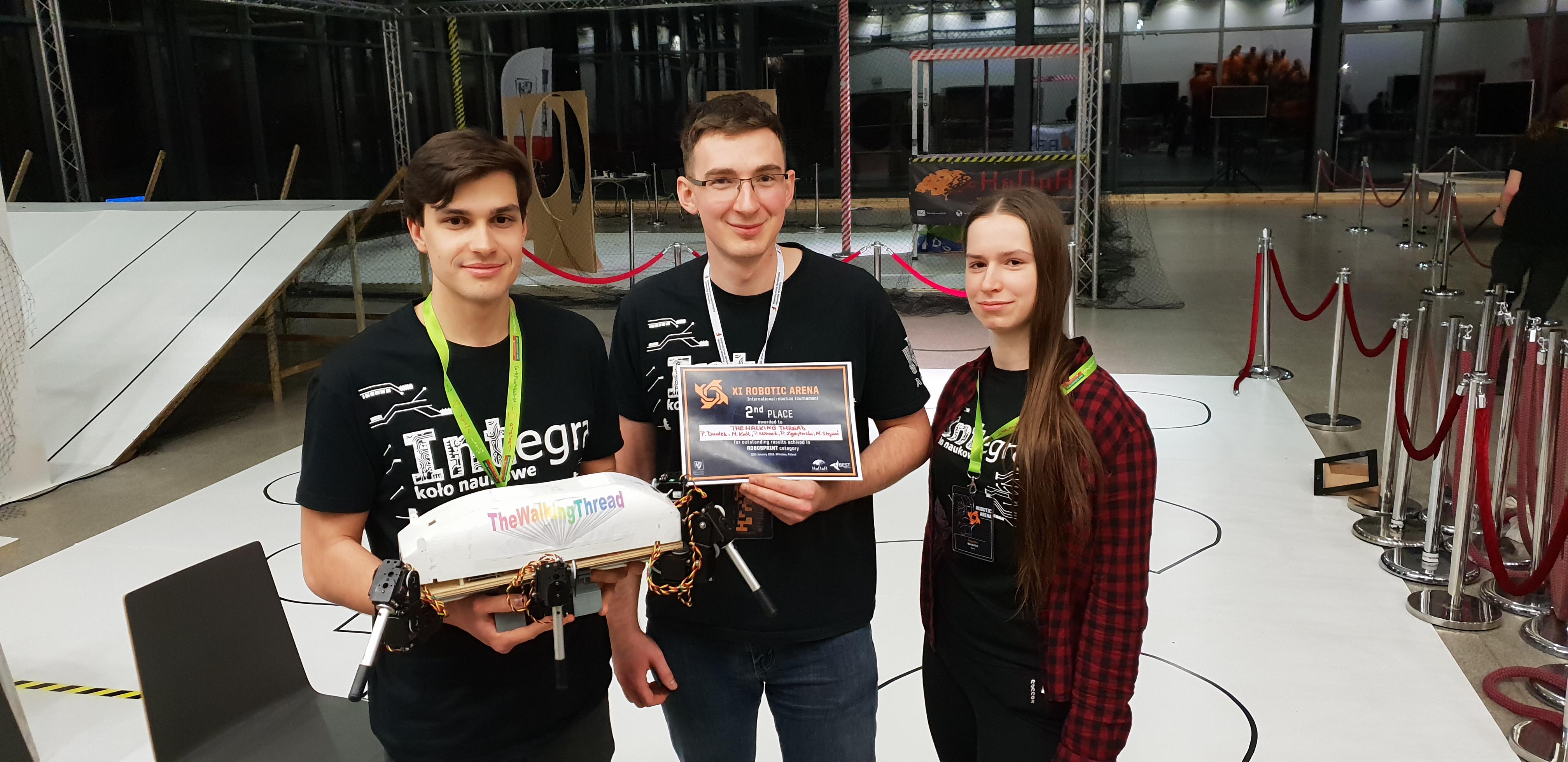 Sukces na zawodach RoboticArena Wrocław 2019